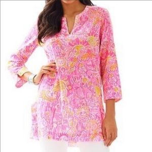 Lilly Pulitzer Marco Island Tunic Size Small